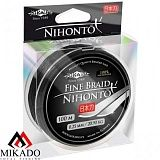 Плетеный шнур Mikado NIHONTO FINE BRAID 0,12 black (100 м) - 8,80 кг.