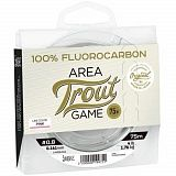 Леска монофильная Lucky John Area Trout Game FLUOROCARBON Pink 75м 028