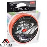 Плетеный шнур Mikado NIHONTO FINE BRAID 0,12 orange (100 м) - 8,80 кг.