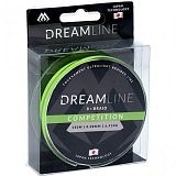 Плетеный шнур Mikado DREAMLINE Competition 0.10 fluo green (150 м) 8,73 кг.
