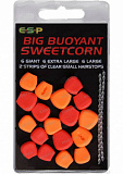 Плавающие приманки E-S-P Big Fluoro Buoyant Sweetcorn - Red/Orange - 18шт.