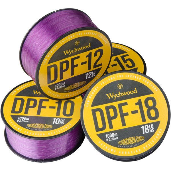Леска карповая Wychwood DPF Coated Mono - 0.28mm / 4.5kg (10lb) / 1000m - Purple/White