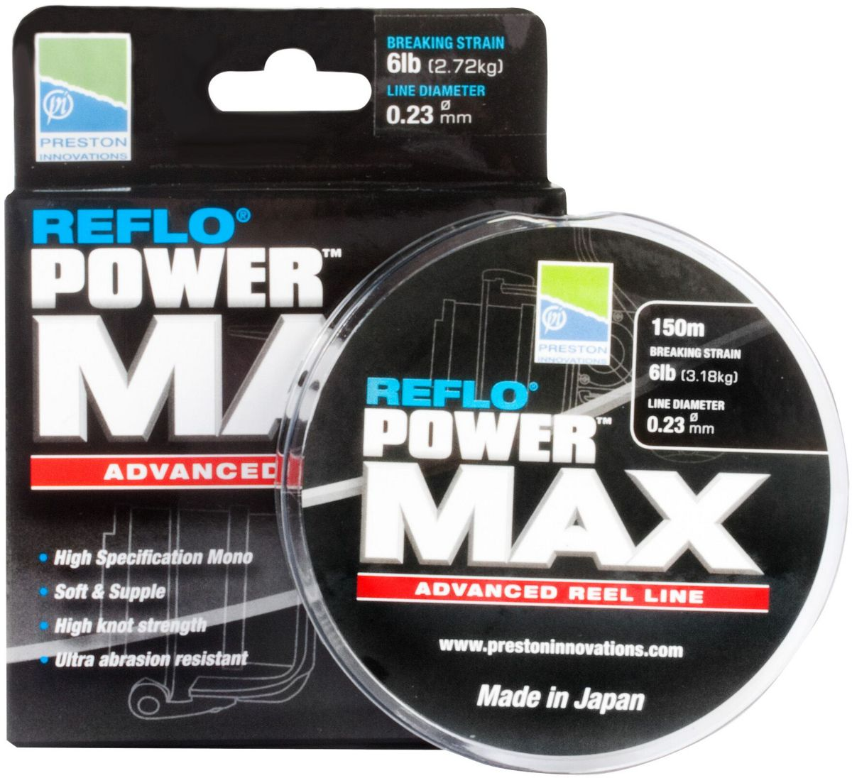 Леска Preston Innovations REFLO® POWER MAX - 150m  0.26mm / 3.63kg