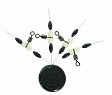 Монтаж противозакручиватель Colmic Rolling Swivel with  Beads and oval Rubber Stopper