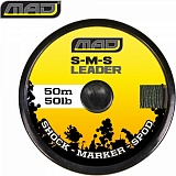 Снаг лидер плетеный MAD S-M-S LEADER / 50lb / 50m / GREEN