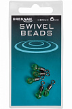 Вертлюг с бусиной DRENNAN Swivel Beads Mini - 4mm / 5шт.