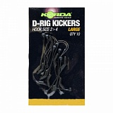 Лентяйка Korda Kickers D-Rig Green Large для крючка №2-4