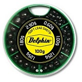 Грузила-дробинки Delphin Soft Lead Shots / 100g - Green box