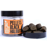 Пеллетс насадочный FFEM Hookbaits Pellets Black Halibut 14 mm